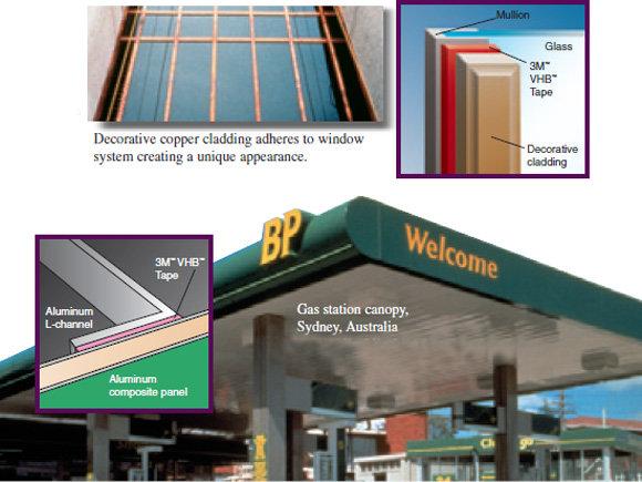 Лепене на алуминиеви панели и стъклопакет към дограма, 3M VHB 4910F