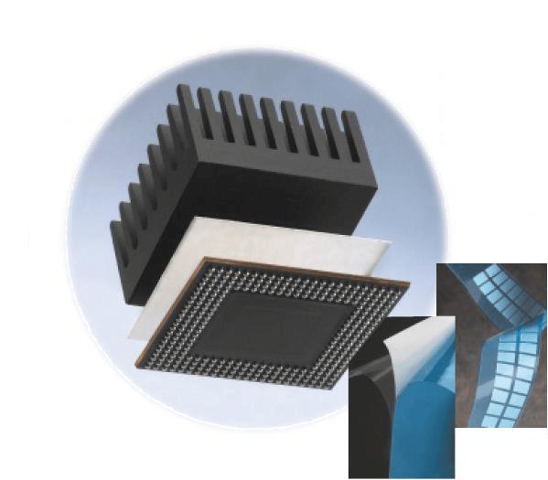 Структура на двойнозалепящи термопроводящи ленти на 3M