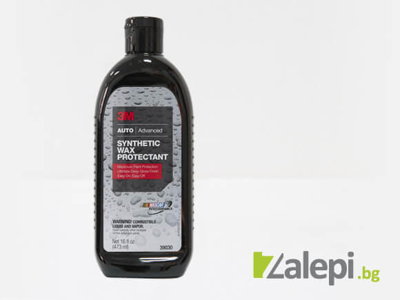 Car wax for a deep gloss finish of auto paint  – 3M Synthetic Wax Protectant