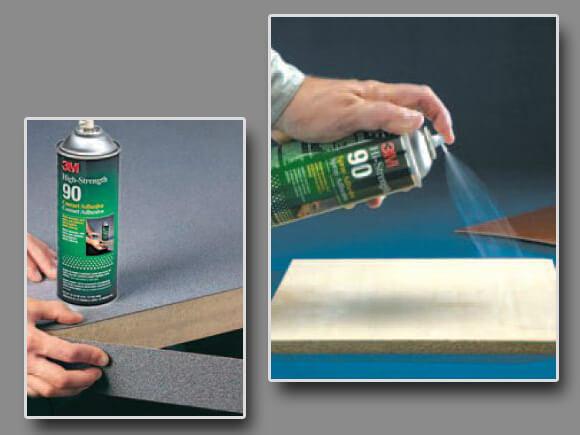 Лепило на спрей 3M hi-strength Spray 90 за лепене на кантове и ПДЧ