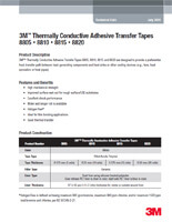 3M 8805 8810 8815 8820 - Data sheet pdf of 3M Thermally Transfer Tapes