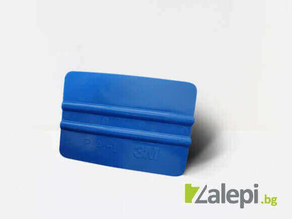 3M blue applicator, син апликатор на 3M за монтаж на фолио
