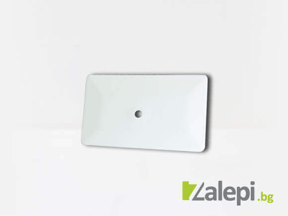 Бяла тефлонова шпакла за апликиране на фолио. Шпатула GT086-6W Hard card