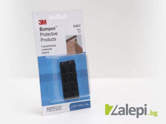 3M SJ5012 Bumpons черни силиконови крачета, самозалепващи