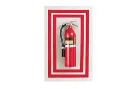 Safety marking tapes for fire extinguisher