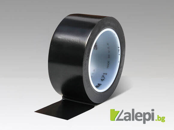 Black floor marking tape М 471 for horizontal and vertical markings