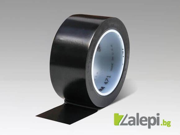 Черна маркираща лента за вертикална и хоризонтална маркировка 3M 471