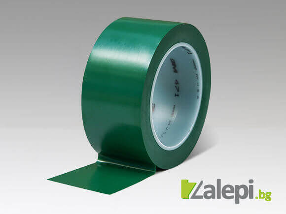 Floor and safety markin tape - green color, 3М 471