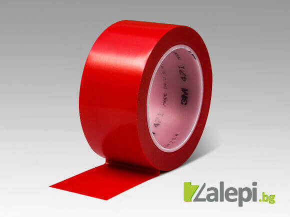 Bright red tape for floor marking at factories, 3M 471