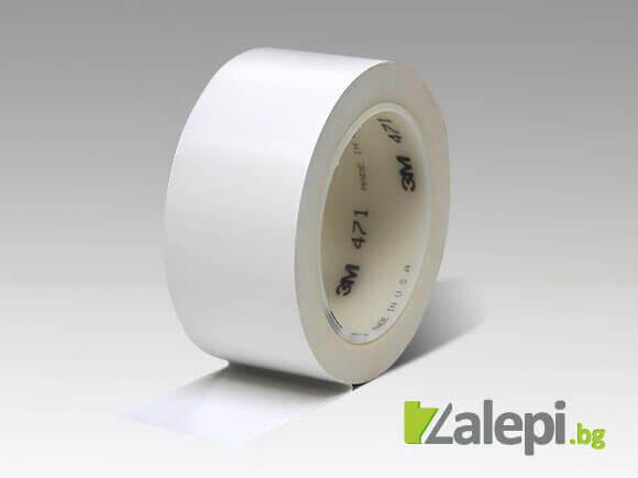 Бяла лента за маркиране на подове 3M 471 Vinyl Tape