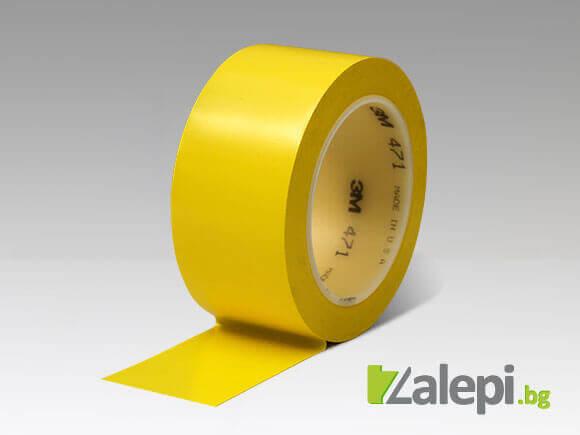Жълта лента за маркировка на подове в халета и складове 3M 471