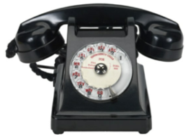 Bakelite synthetic plastic - the Telephone