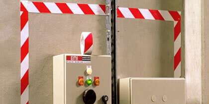 3M™ Hazard Marking Tapes 766/767 on an electric panel