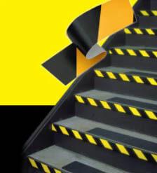3M Safety Stripe Vinyl Tape 766 Black/Yellow