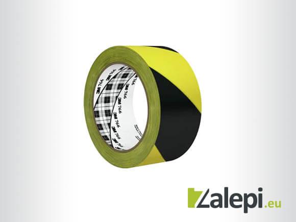 3M Hazard Warning Tape 766 - жълто-черна лента за под