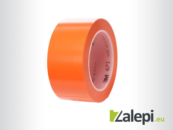 3M Vinyl Tape 471 маркираща лента за под, оранжева